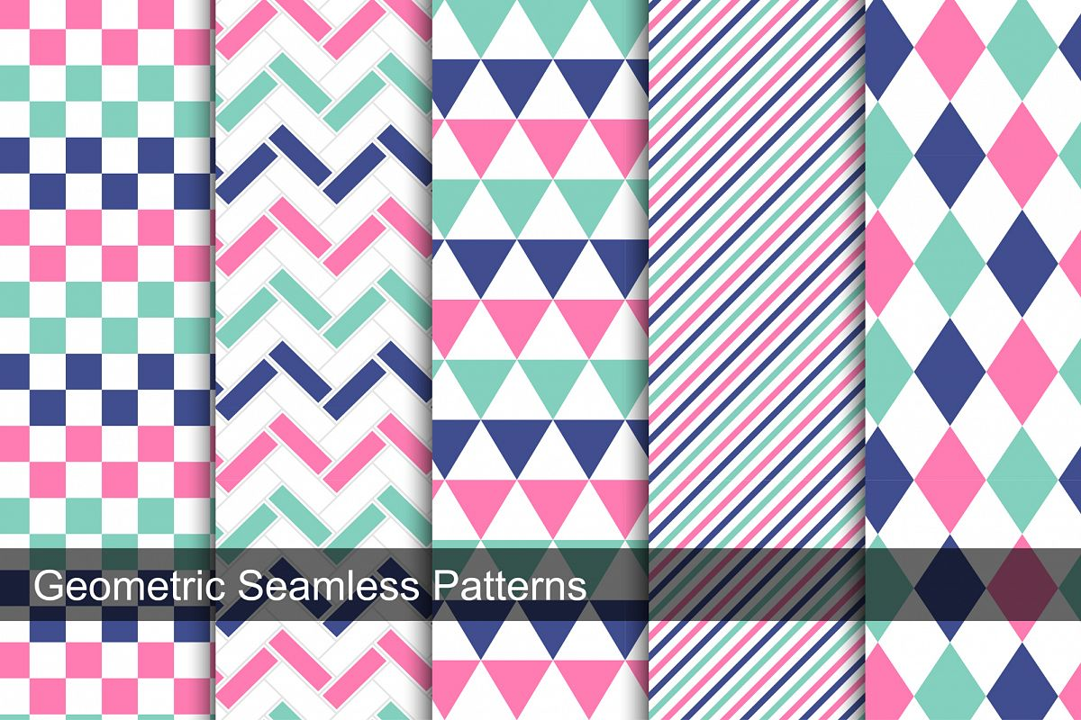 Collection of geometric swatches. example image 1