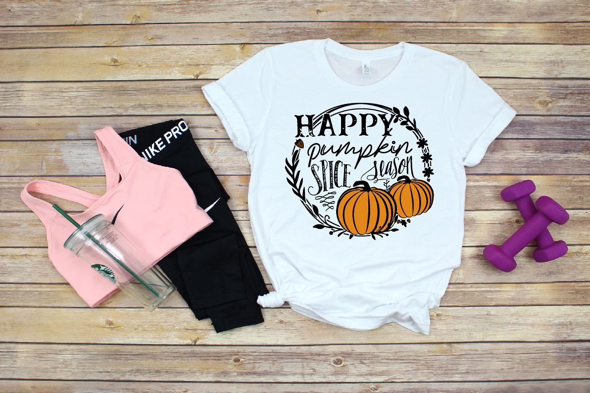 Fall svg, Happy Pumpkin Spice Season SVG Cut File example image 1