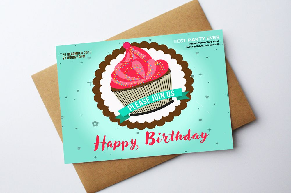 Birthday Greeting Card Template example image 1