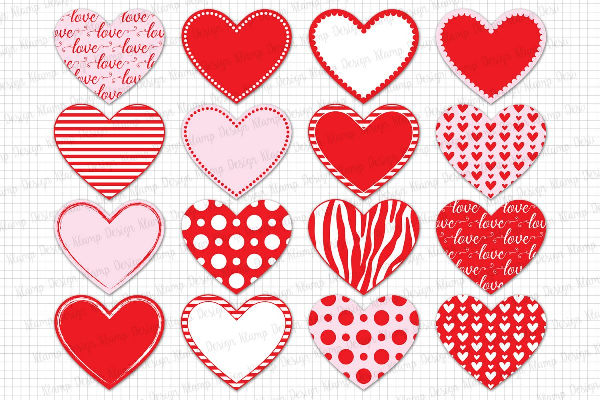 Heart / Love / Heart Clipart / Valentine Heart Clip Art / Valentine's Day / Heart Graphic and Illustrations example image 1