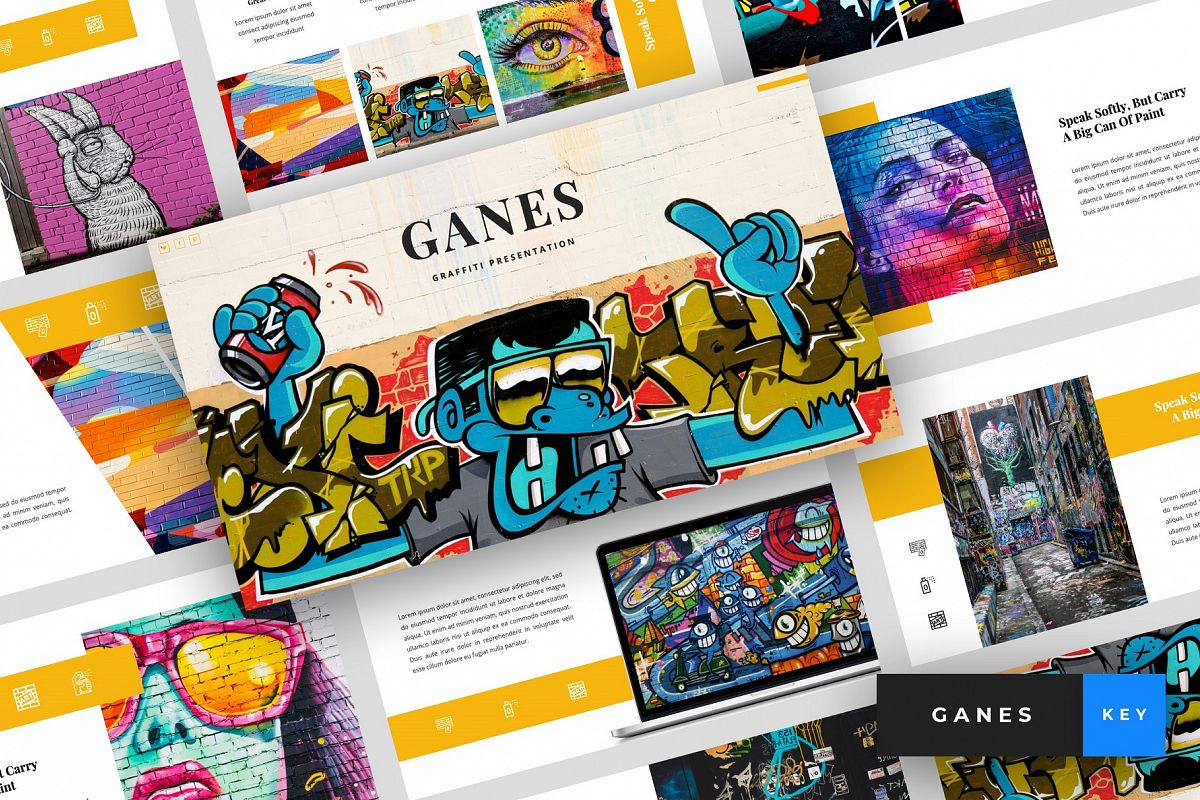 Ganes - Graffiti Keynote Template example image 1