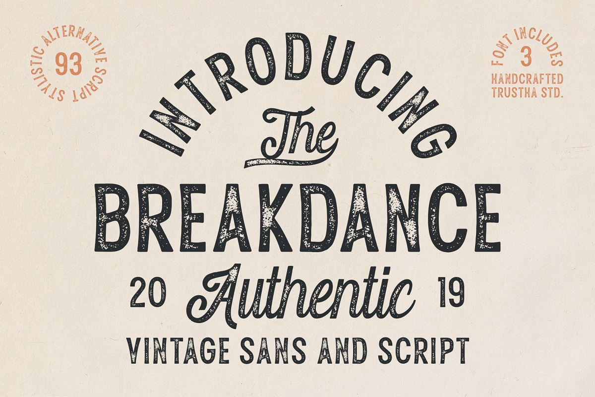 Breakdance Vintage Font Duo example image 1
