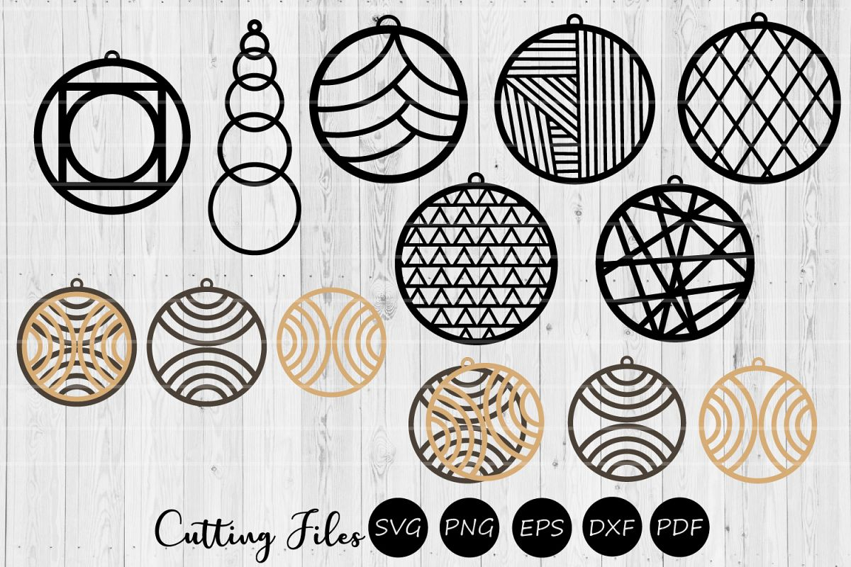 9 Earring Digital Designs | Laser Cutting | Wood & Acrylic example image 1