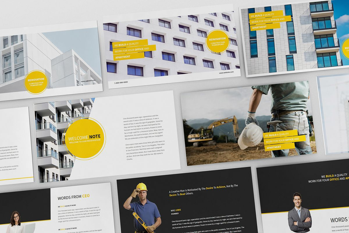 Construction Powerpoint Presentation example image 1