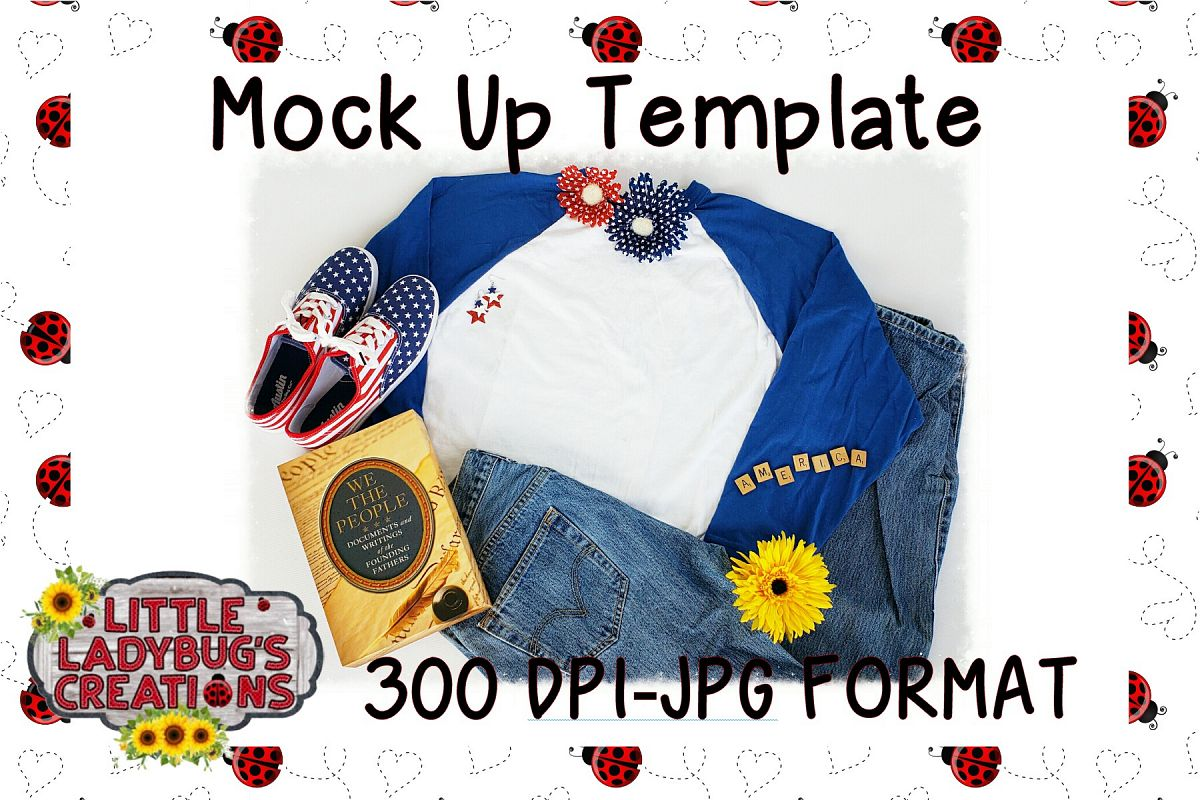 Patriotic Raglan Mockup example image 1