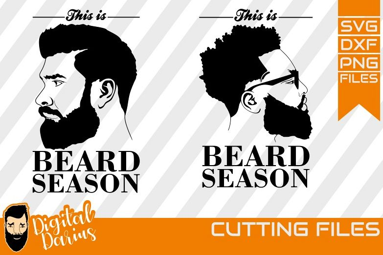 2x Beard Season svg, Man face SVG, Man svg, hipster beard example image 1