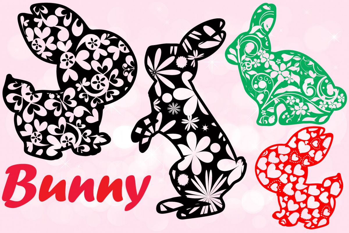 Easter bunny Flowers and hearts shirt bunny ears 636 example image 1