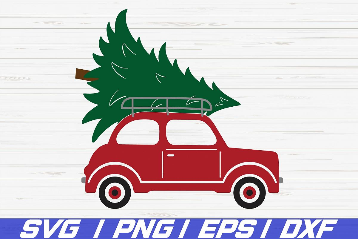 Christmas Tree Car SVG / Cricut / Cut File / Clip art example image 1