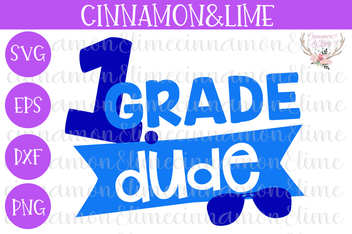 1st Grade Dude SVG example image 1