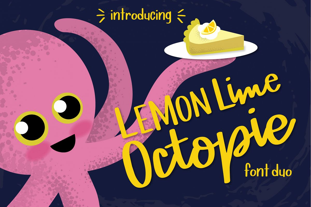Lemon Lime Octopie Font Duo example image 1