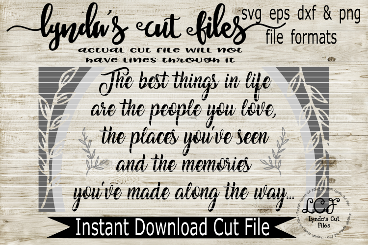 The Best Things in Life//SVG/EPS/DXF example image 1