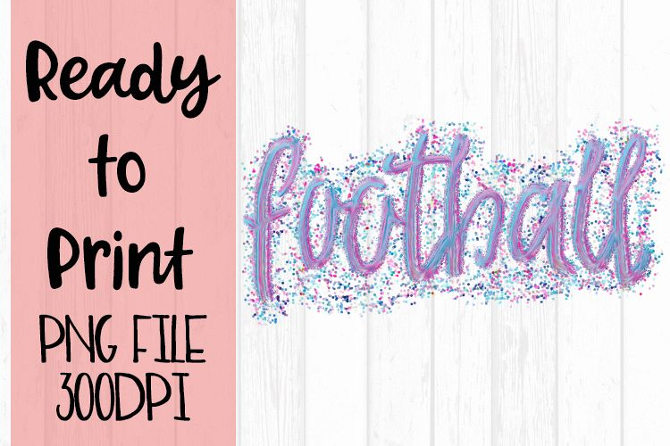 Confetti Football Ready to Print example image 1