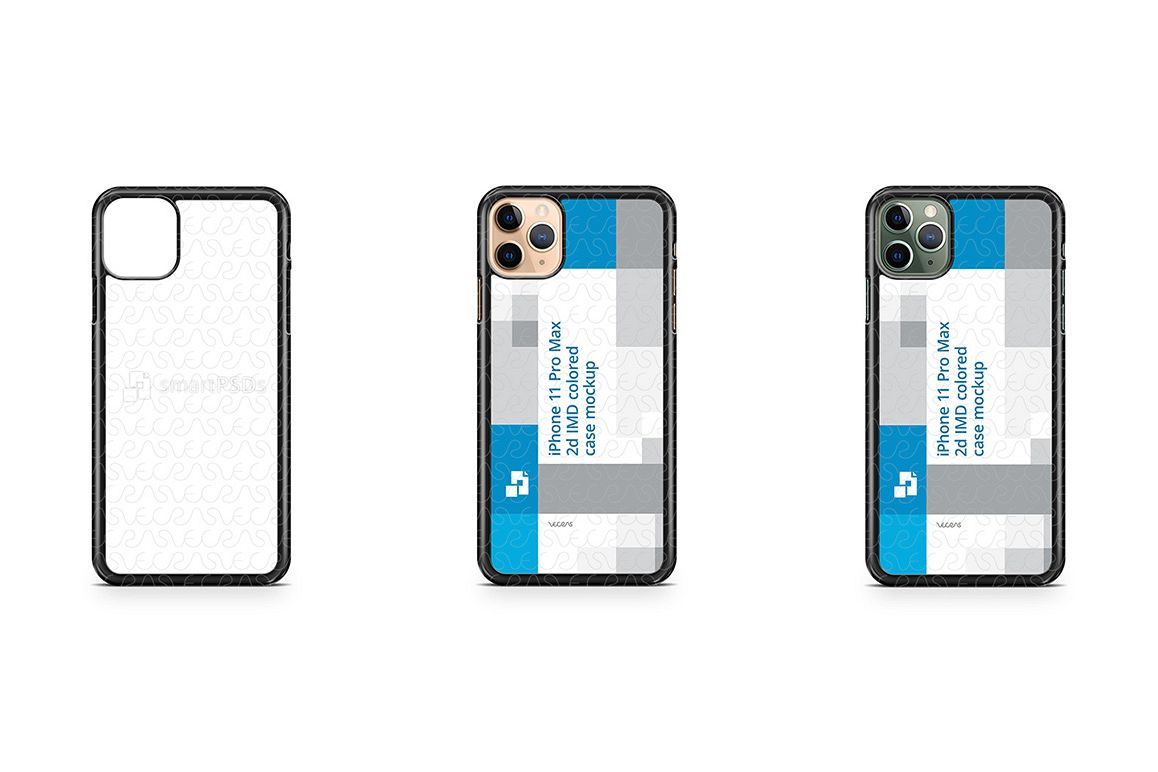 iPhone 11 Pro Max 2019 2d PC Colored Case Design Mockup example image 1