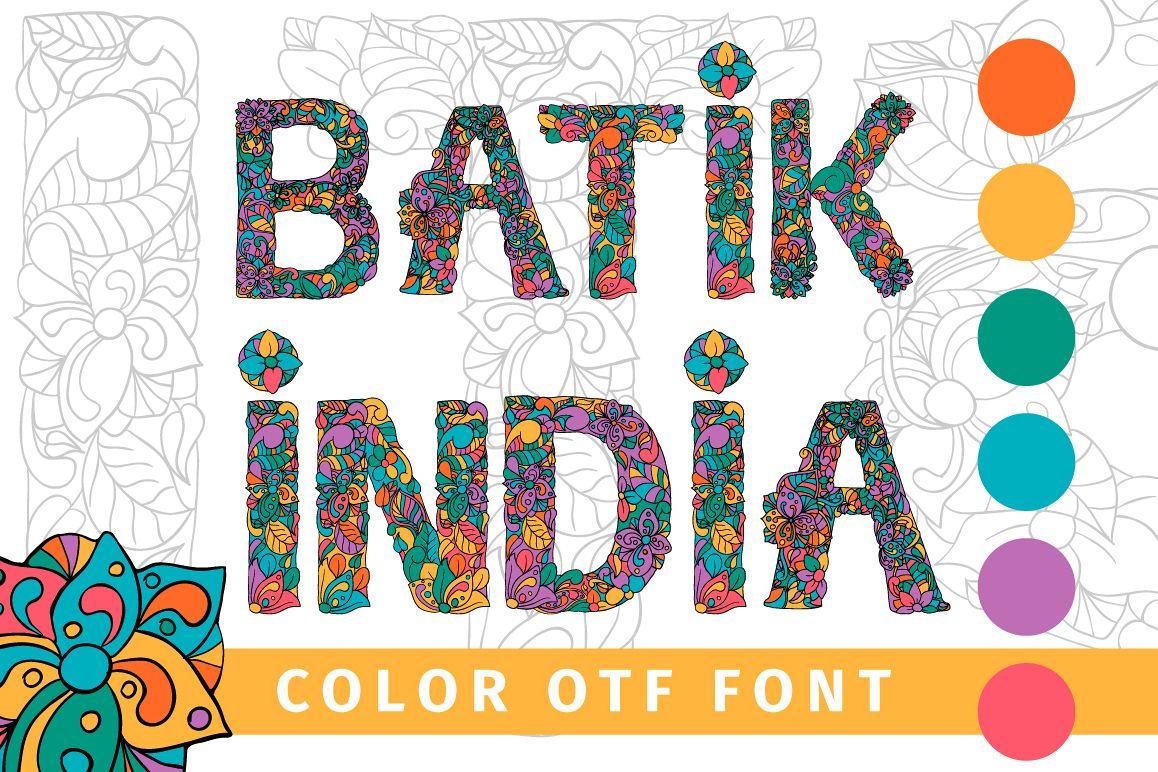 Batik India Color Font example image 1
