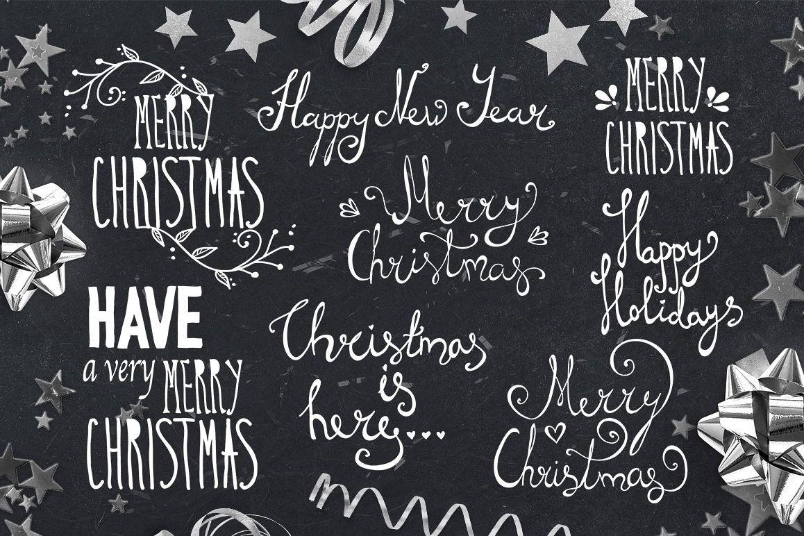Christmas Lettering.Hand Lettering Christmas Overlays