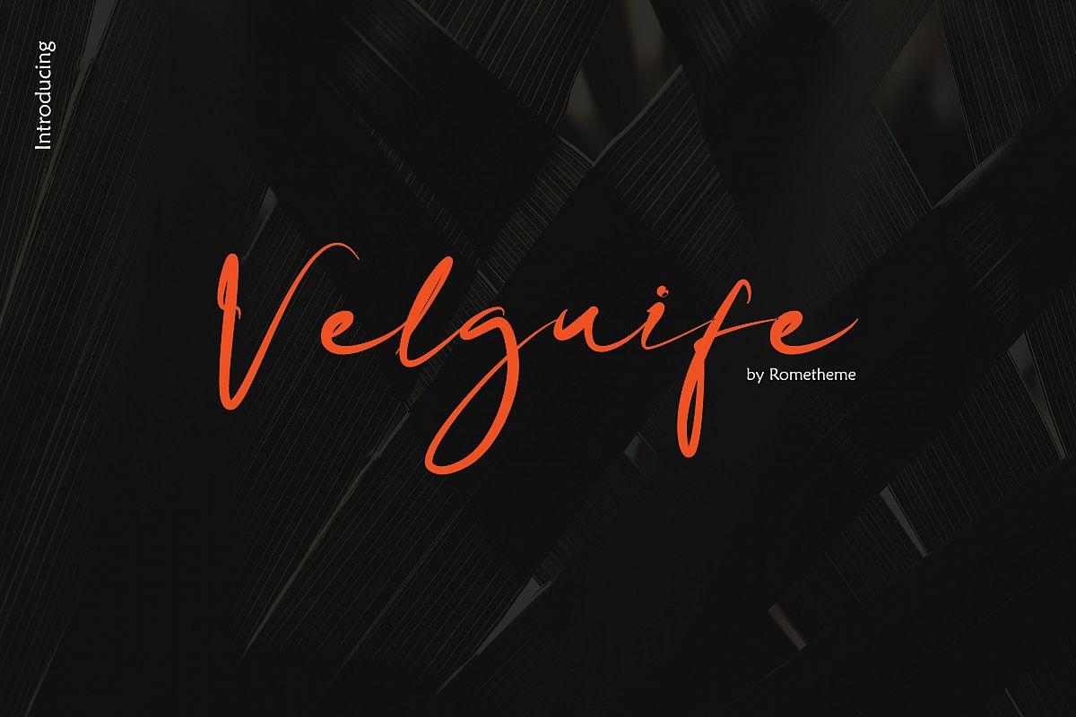 Velguife Script Font example image 1