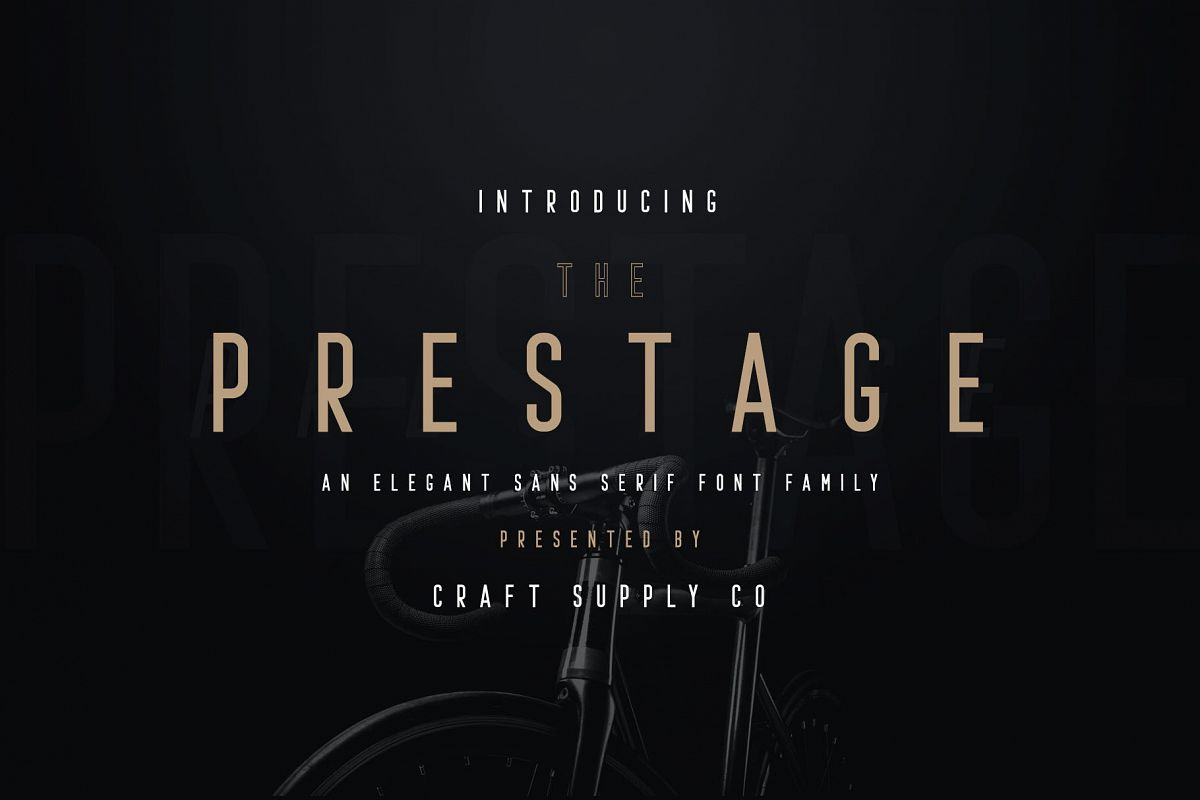 Prestage Font Family example image 1