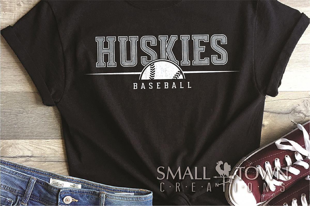 Huskies, Huskies Baseball, Team, logo, PRINT, CUT & DESIGN example image 1