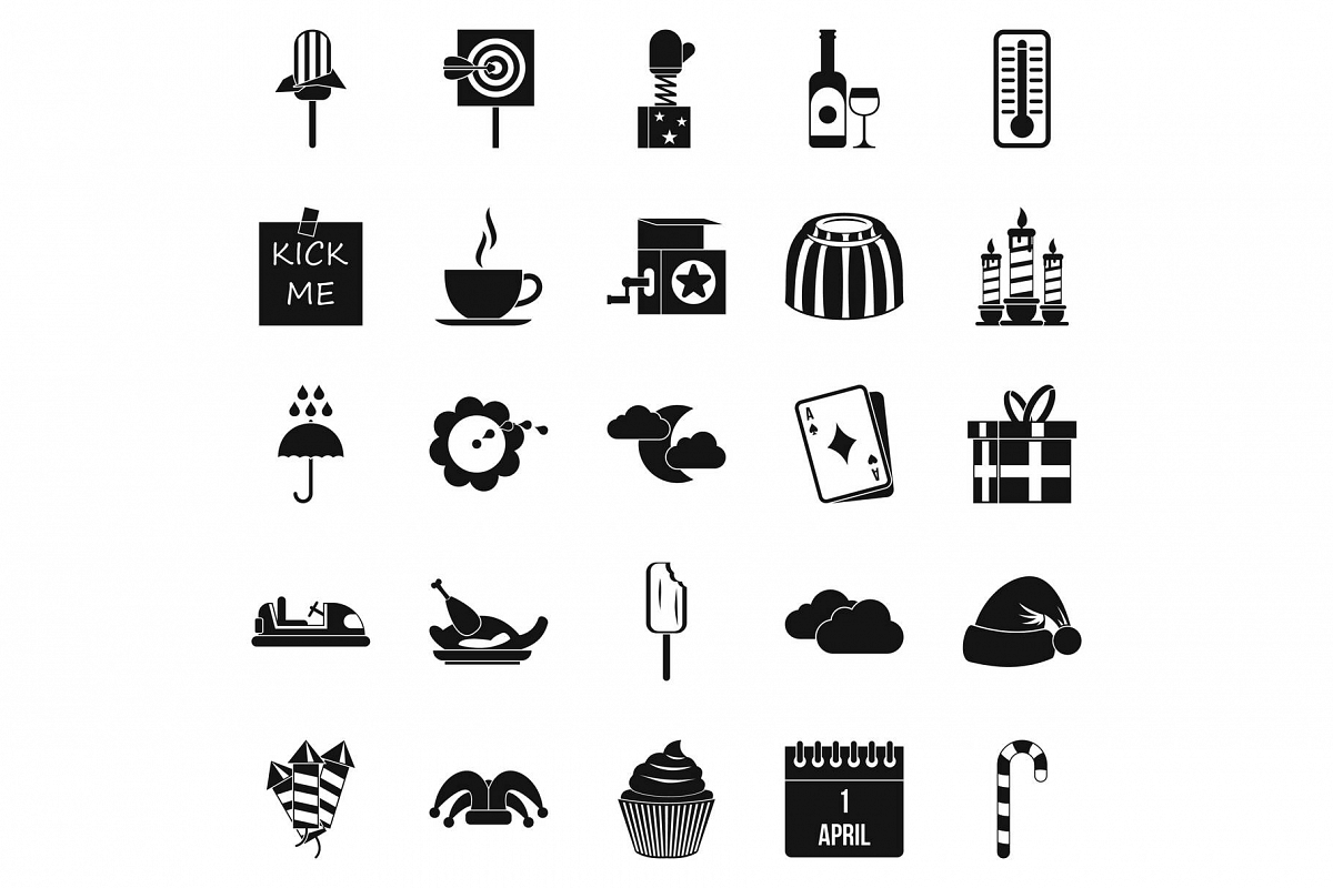 Childrens parties icons set, simple style example image 1