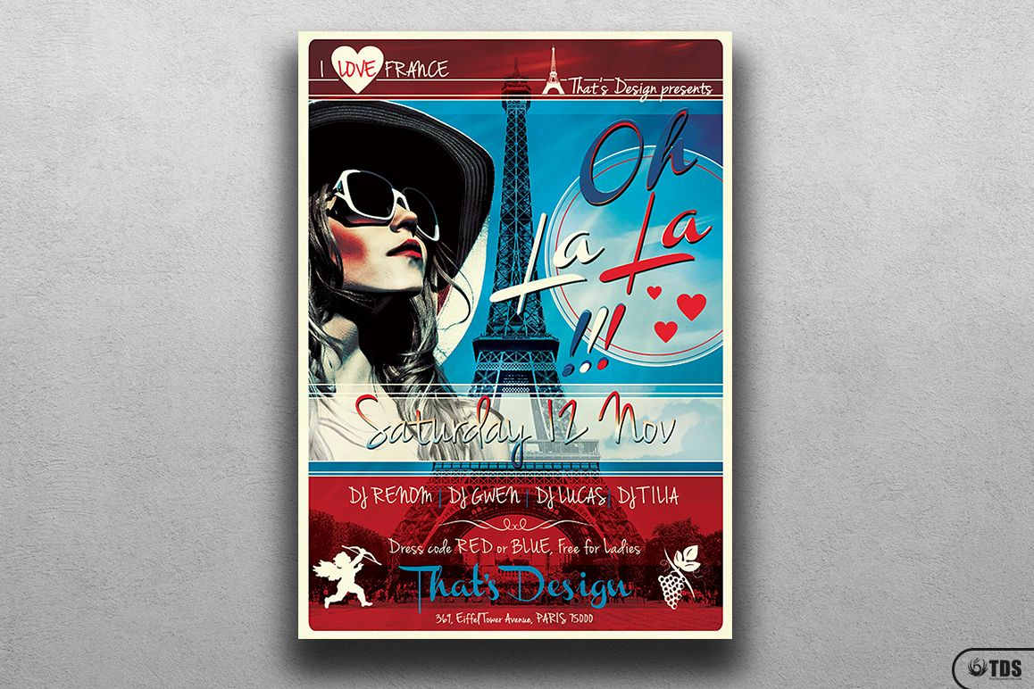 French Party Flyer Template V2 example image 1