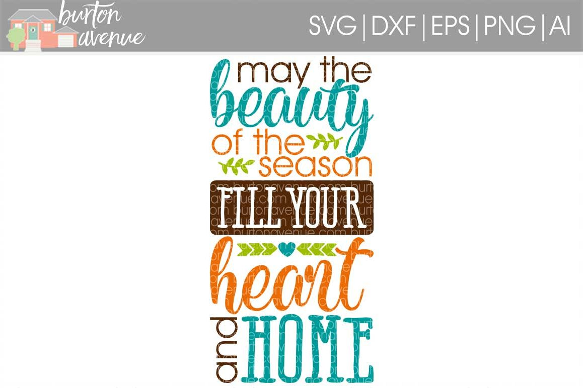 May the Beauty of the Season Fill Your Heart and Home cut File - SVG DXF EPS AI PNG example image 1