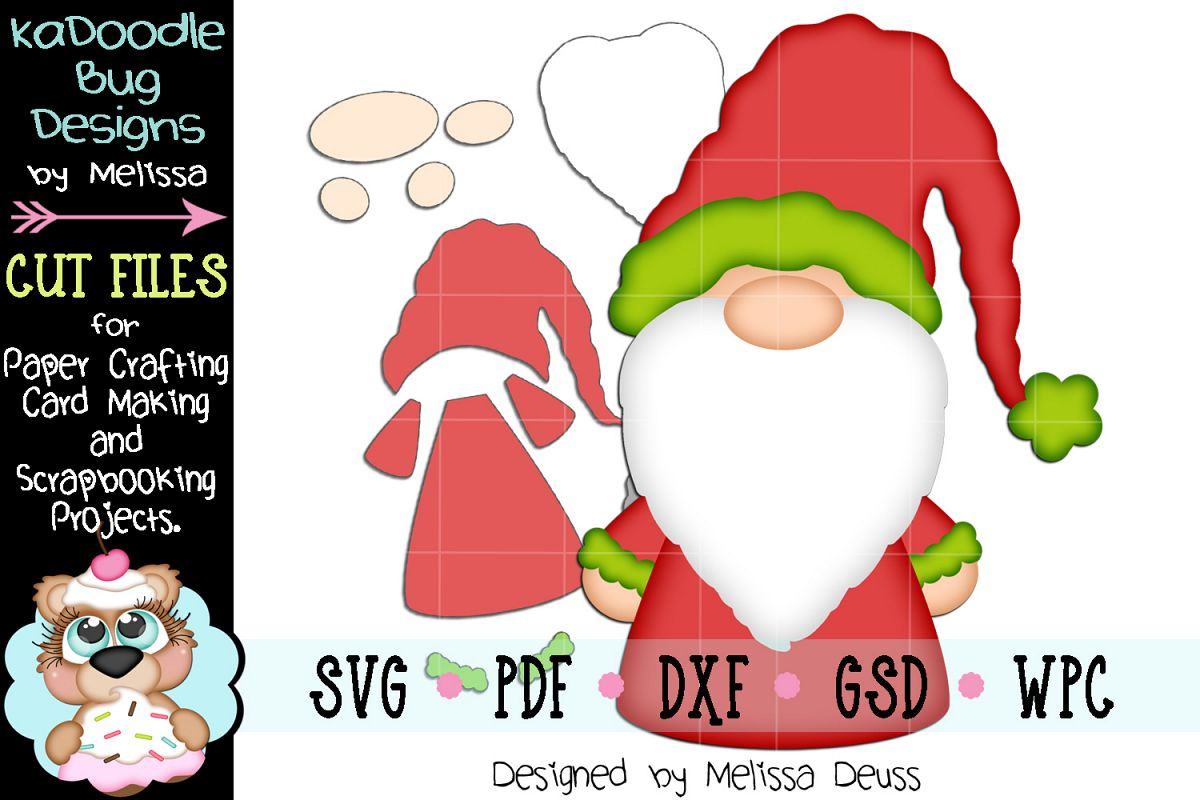 Christmas Gnome Cut File - SVG PDF DXF GSD WPC example image 1