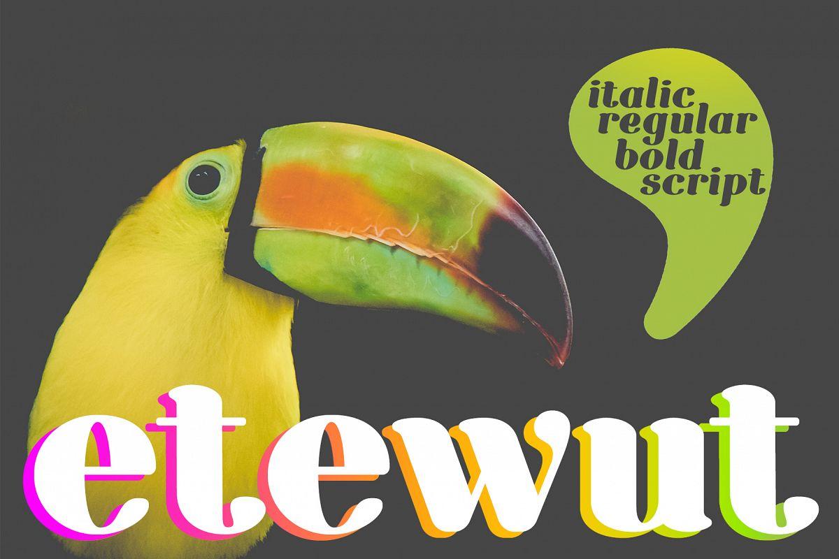 Etewut Serif example image 1