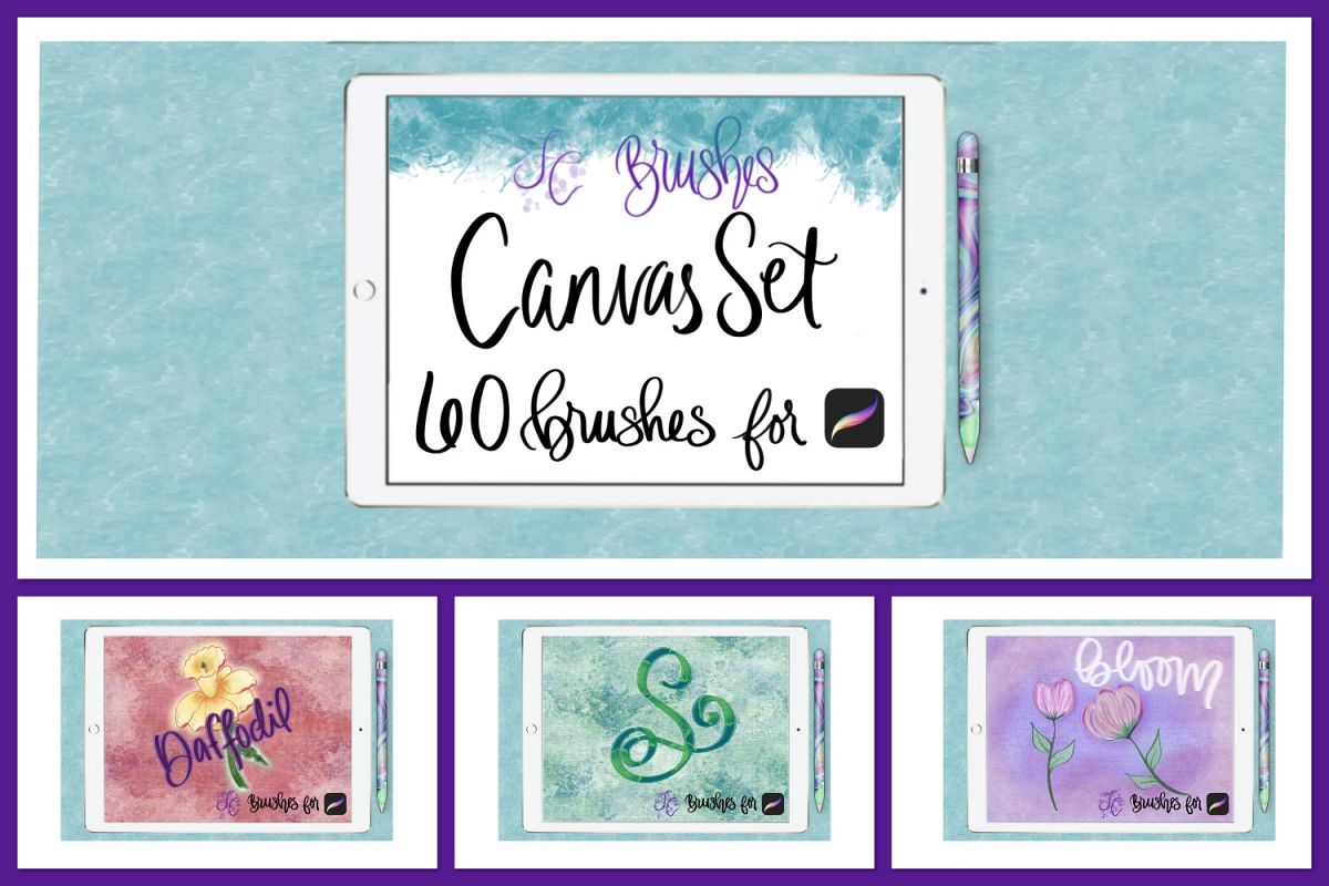 FC-canvas set 1 brushes for PROCREATE example image 1