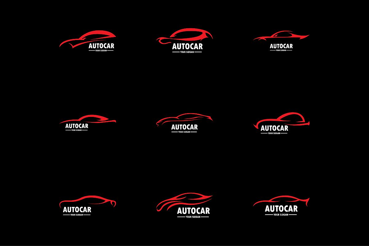 car logo vector illustration by anasofa design bundles