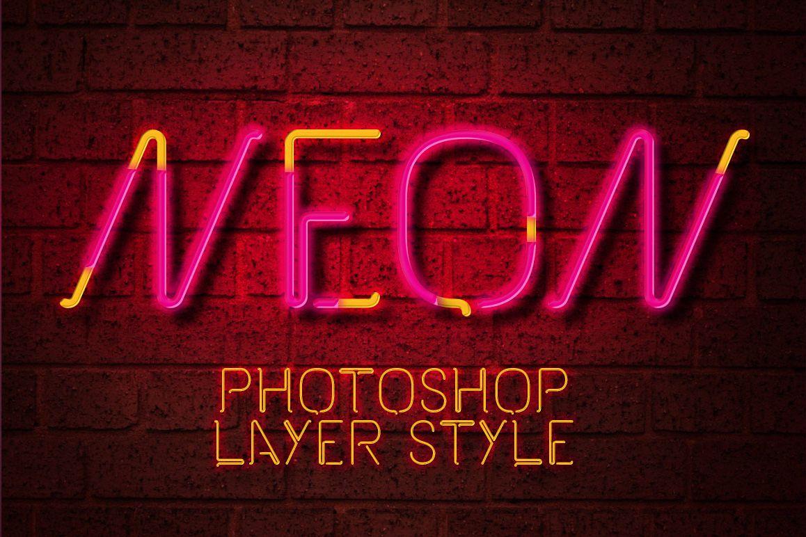 Neon Photoshop Layer Style example image 1