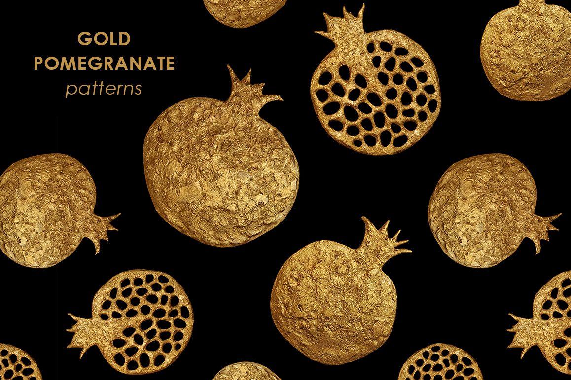 GOLD POMEGRANATE set example image 1