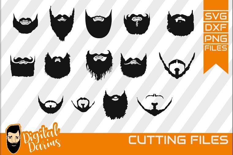 14x Beard Man bundle svg, Mustache svg, short beard, hipster example image 1