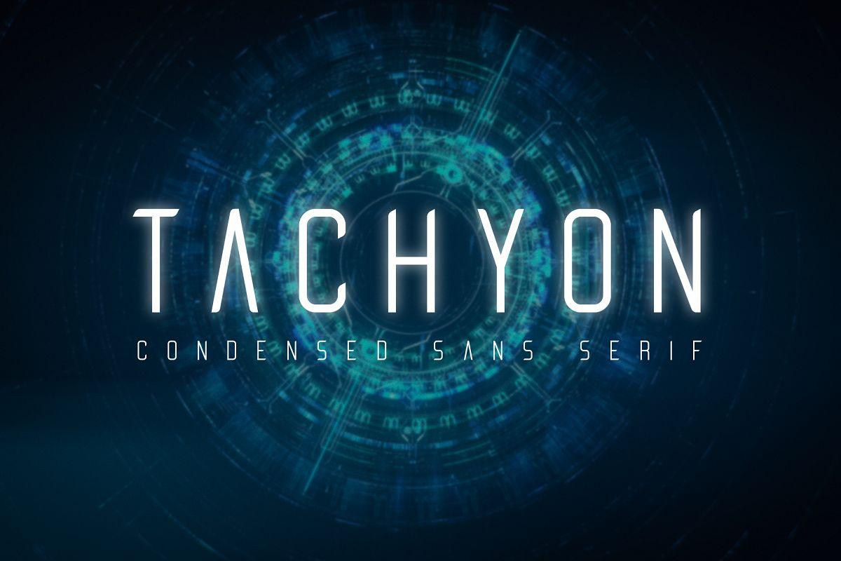 Tachyon Font - Condensed Sans Serif example image 1
