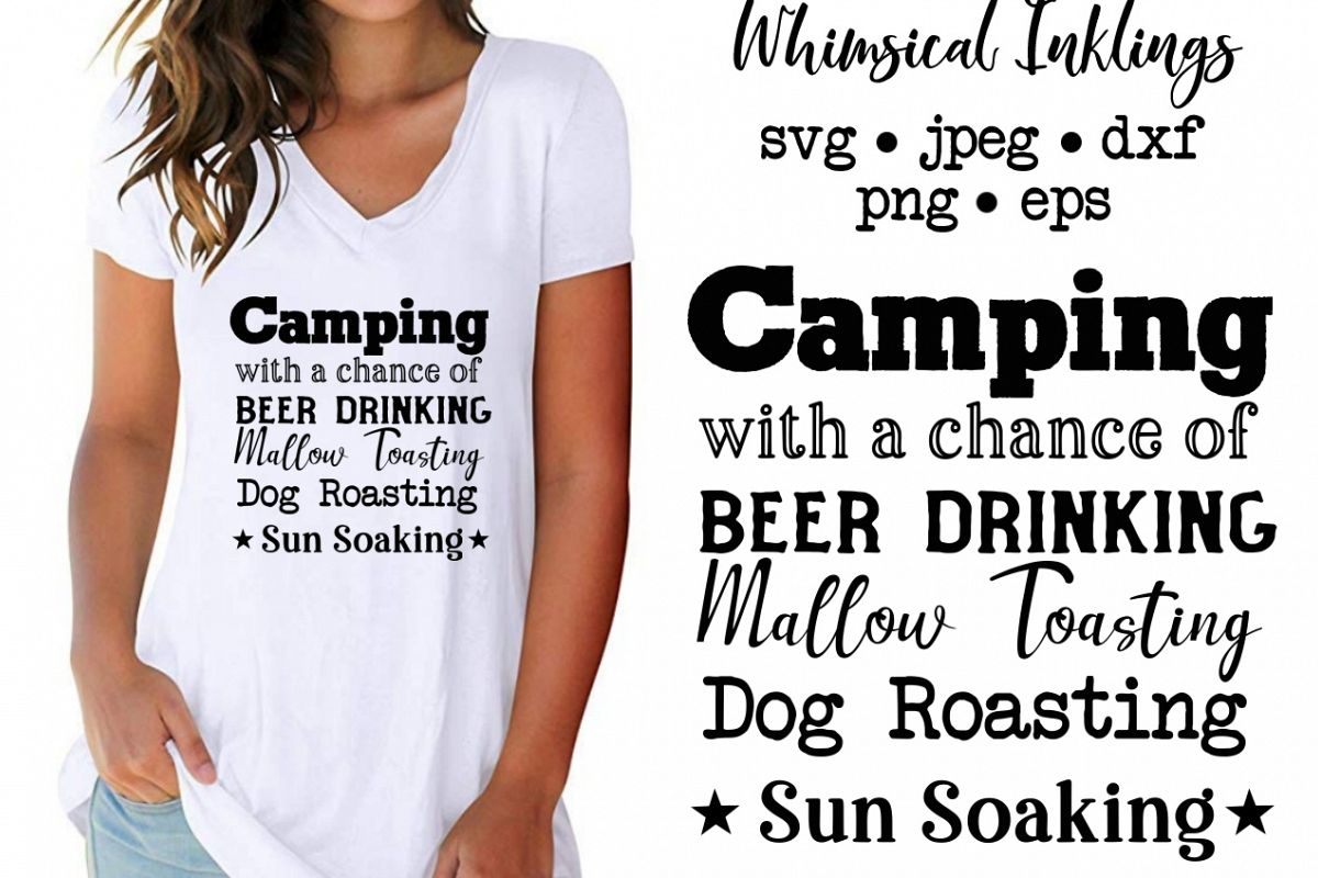 Chance Of Camping SVG example image 1
