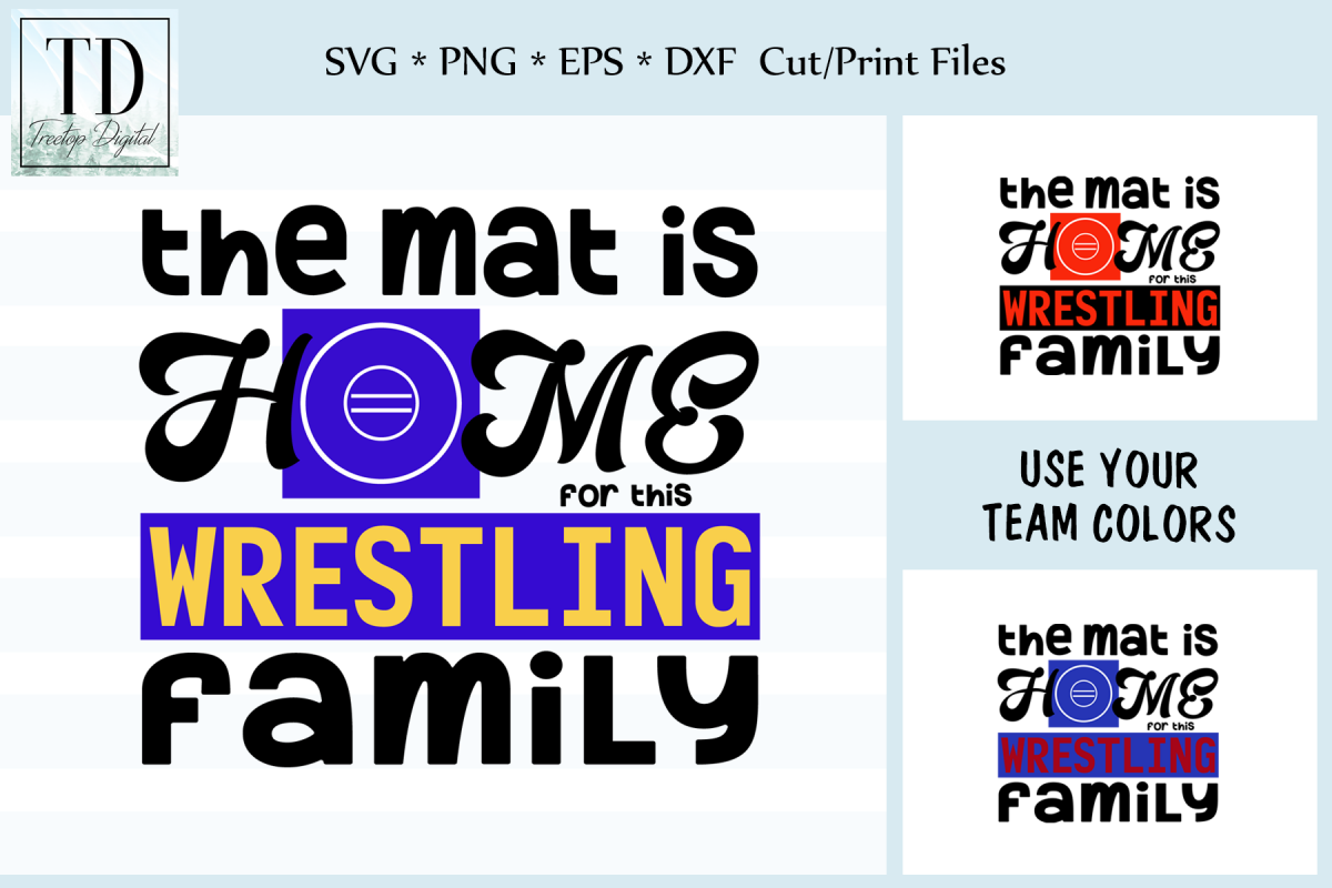 Mat is Home for Wrestling Family - A Wrestling SVG example image 1
