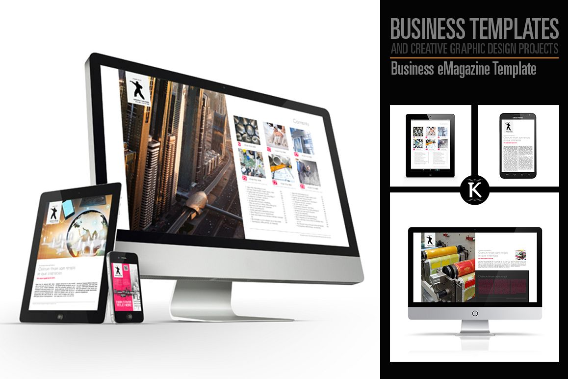 Business eMagazine Template example image 1