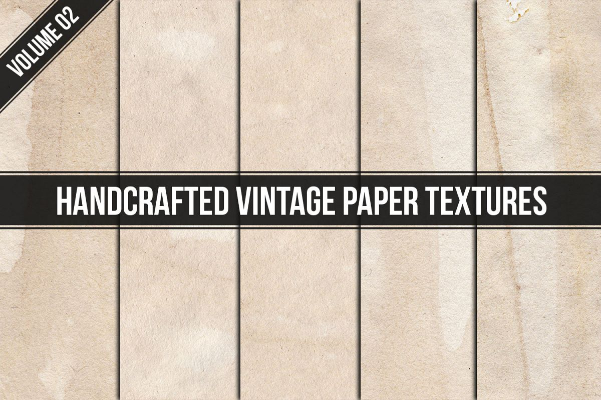 Handcrafted Vintage Paper Textures Vol. 02 example image 1