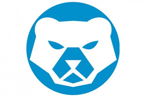 Polar Bear Head Circle Retro example image 1