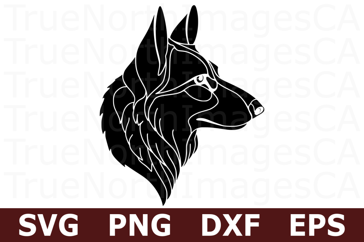 German Shepherd - An Animal SVG Cut File example image 1