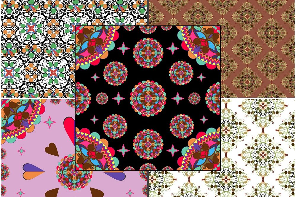 Colored oriental ornaments example image 1