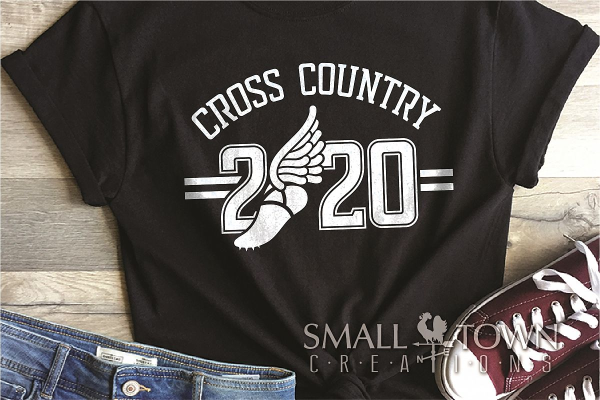 Cross Country, Running logo, Winged shoe, PRINT, CUT, DESIGN example image 1
