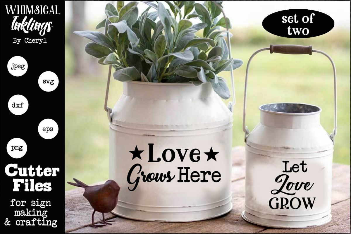 Love Grows Here SVG set example image 1