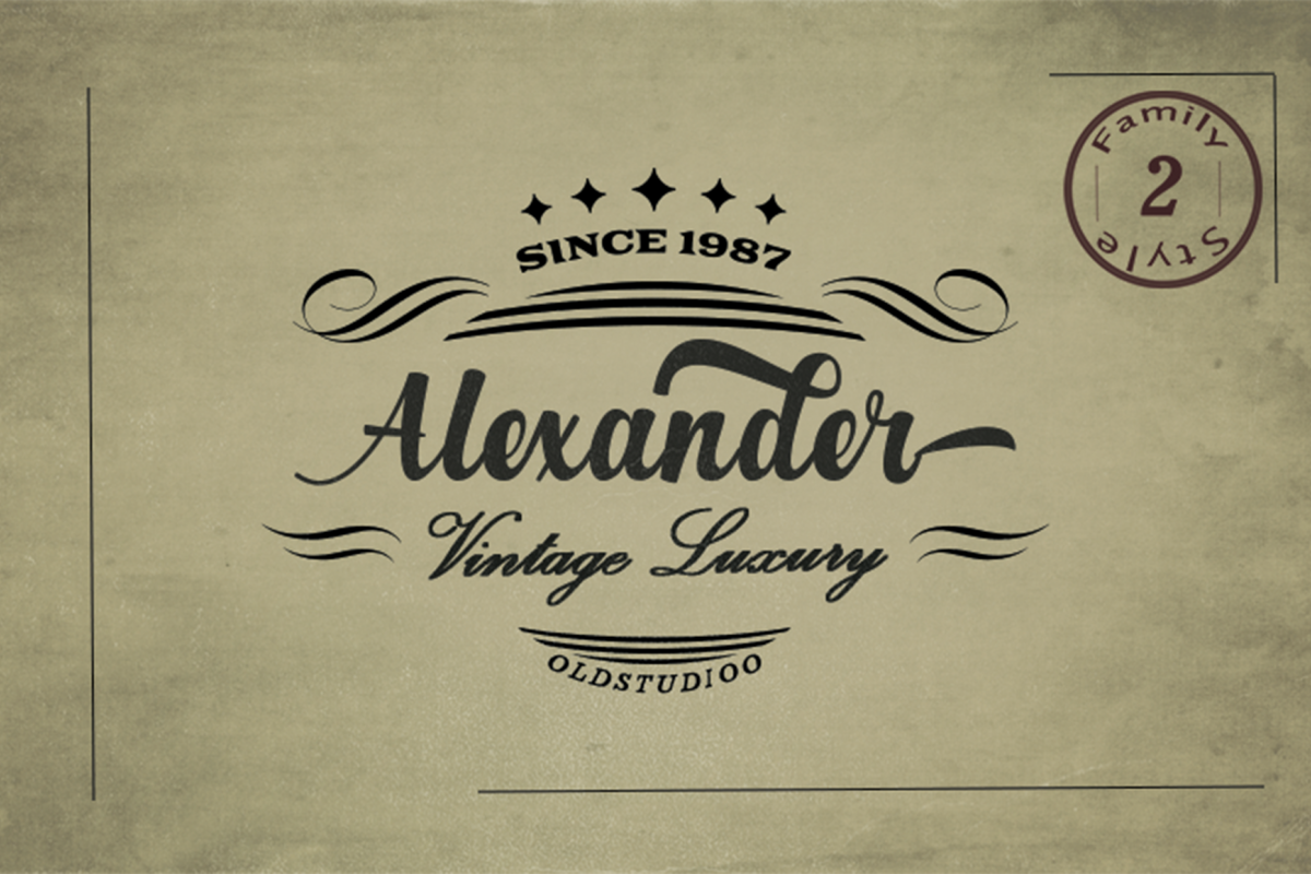 Alexander 2 Style Font example image 1