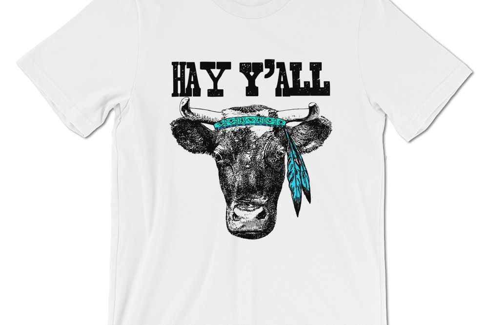 Hay Y'all Cow Two Digital Files example image 1