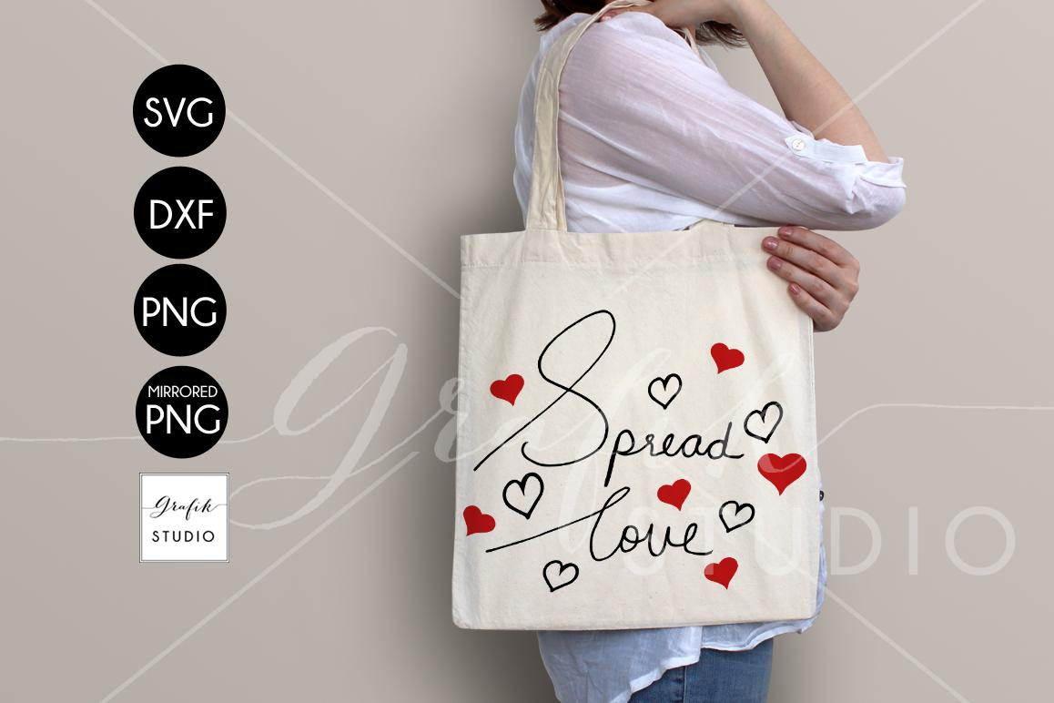 Spread Love Valentine SVG File, Handwritten Typography