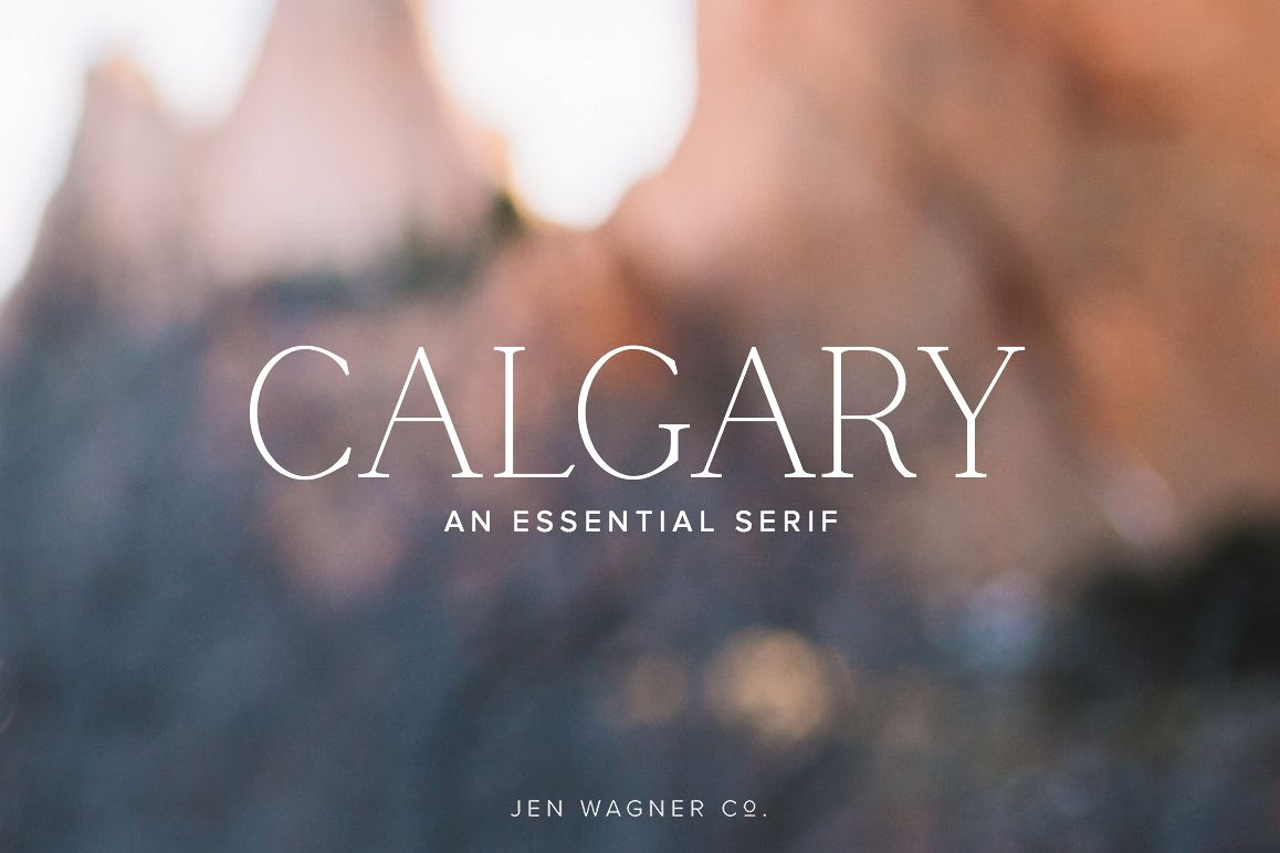 Calgary | An Essential Serif example image 1