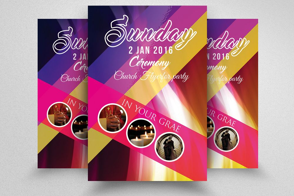 sunday prayer church flyer template
