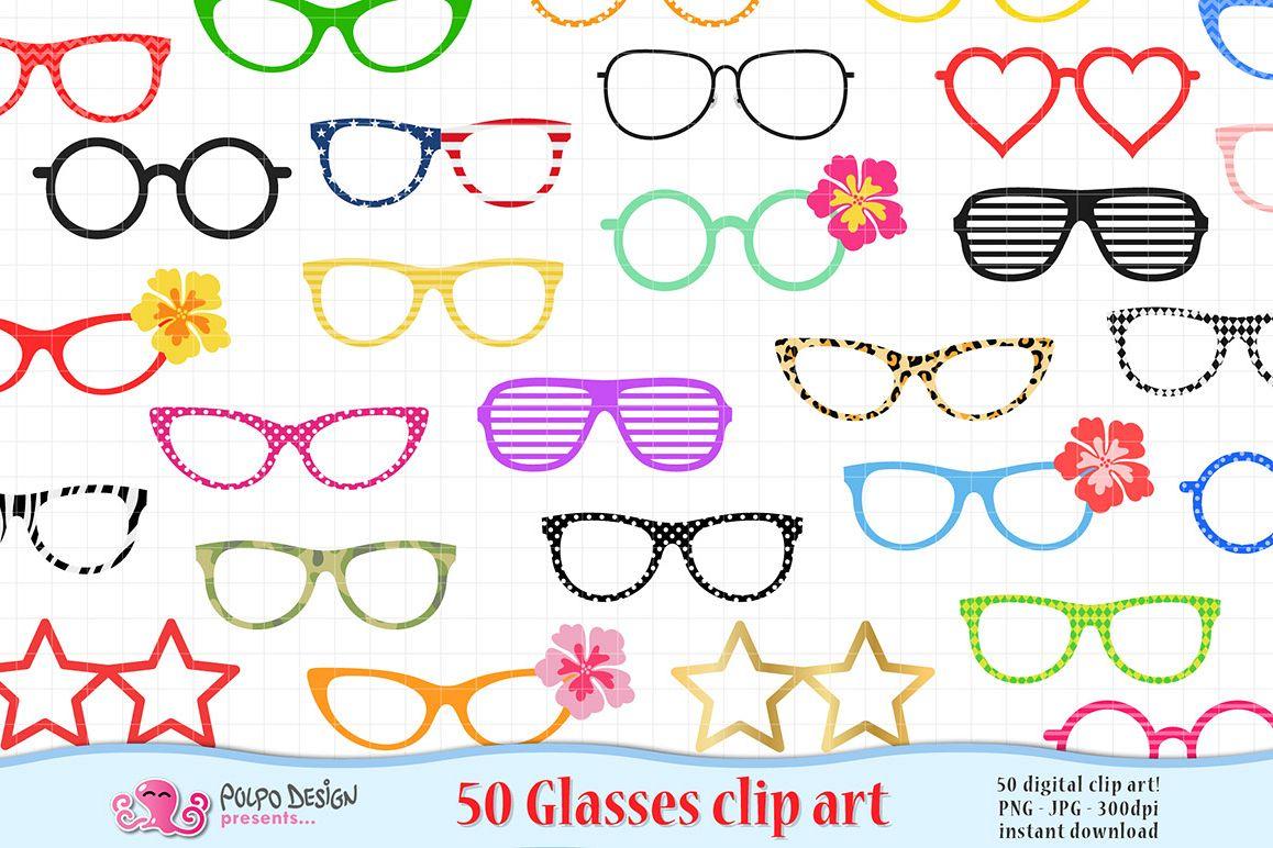 50 Glasses clip art example image 1