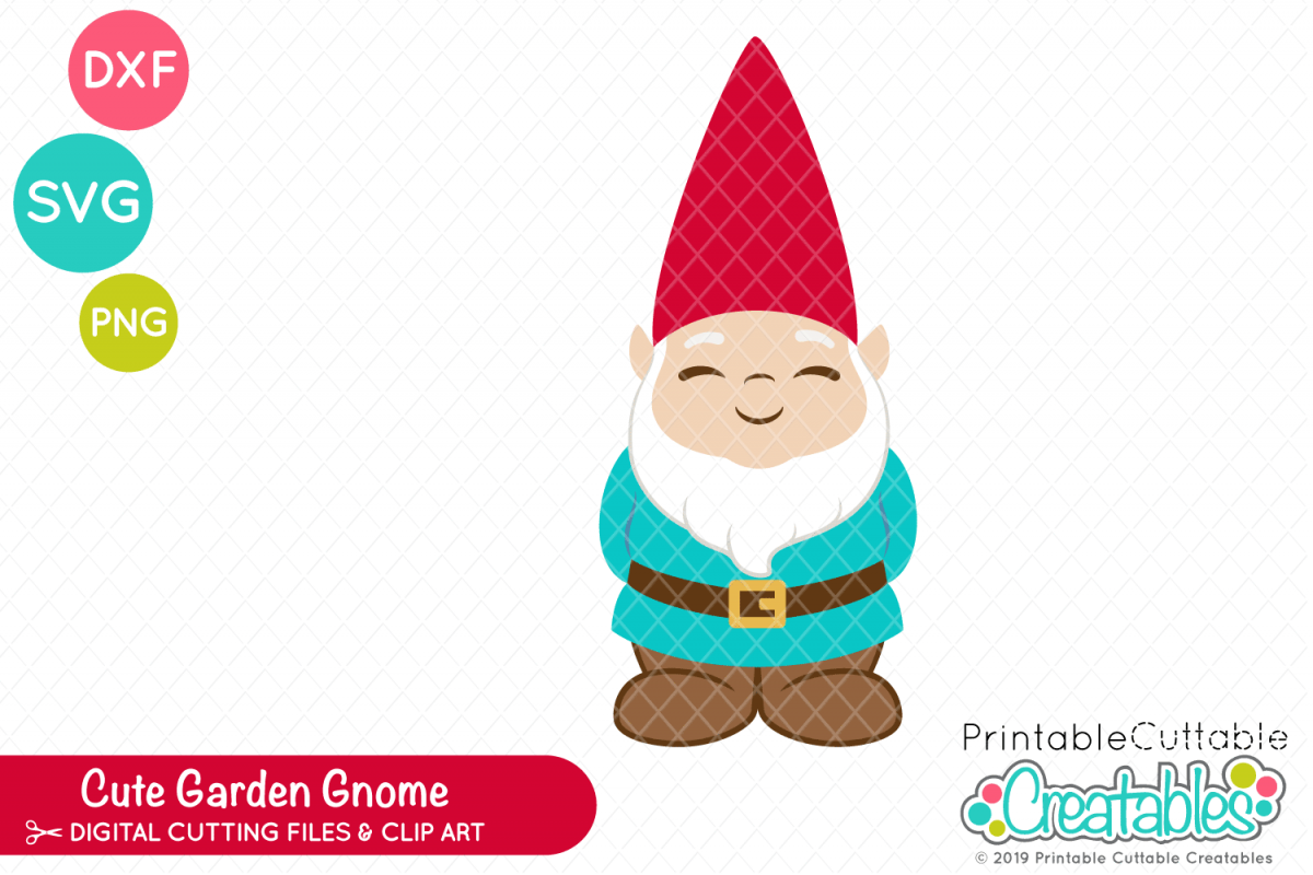 Cute Garden Gnome SVG