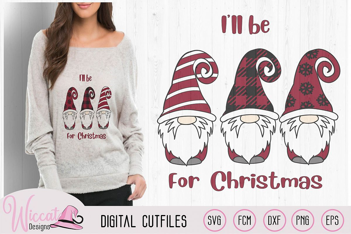 Christmas gnomes, be home for christmas quote, example image 1